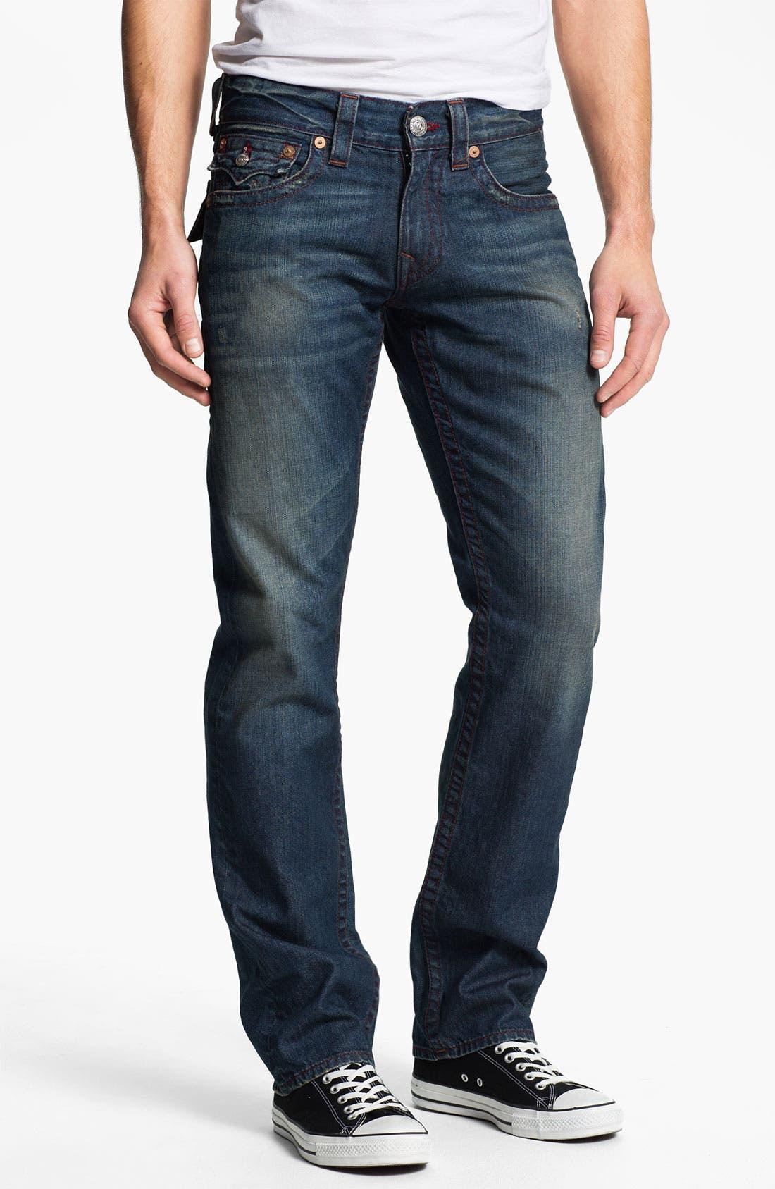 Alternate Image 2  - True Religion Brand Jeans 'Ricky' Straight Leg Jeans (Dark Drifter)