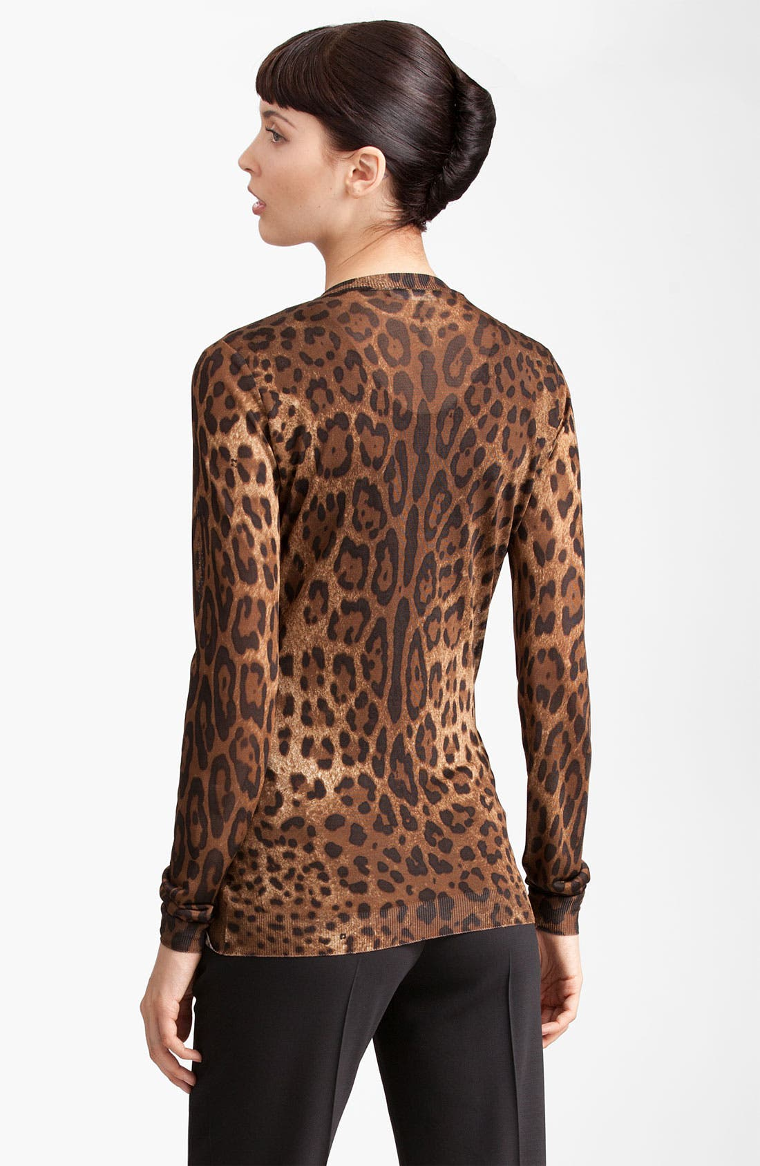 Alternate Image 3  - Dolce&Gabbana Leopard Print Cardigan