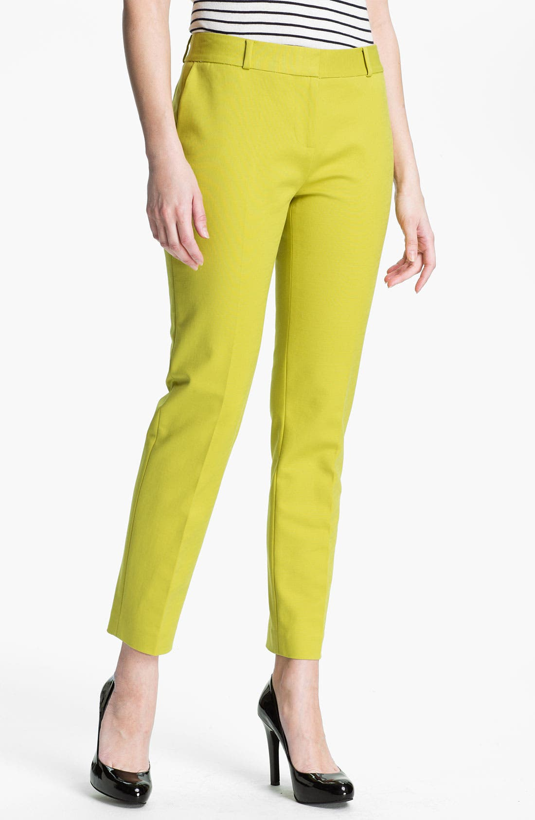 Alternate Image 1 Selected - kate spade new york 'davis' slim leg crop pants