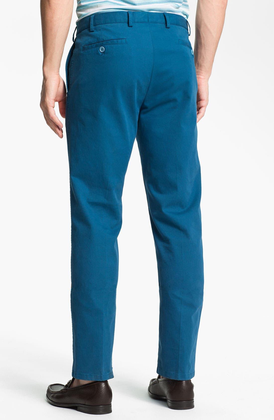 Alternate Image 2  - Salvatore Ferragamo Flat Front Pants