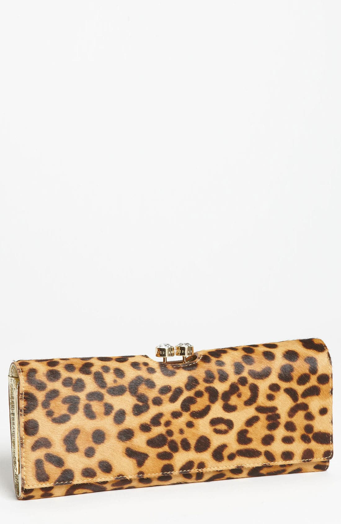 Main Image - Ted Baker London 'Crystal Bobble - Extra Large' Calf Hair Matinee Wallet