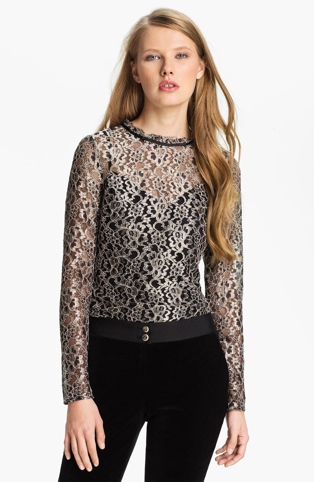 Alternate Image 1 Selected - Ted Baker London Lace Top