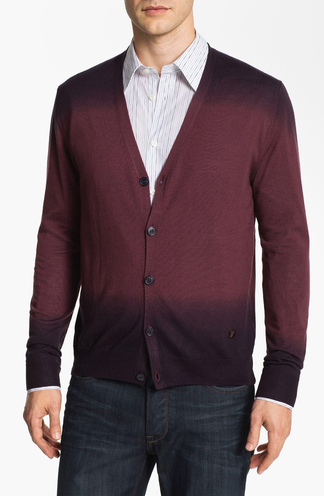 Alternate Image 1 Selected - Versace Wool & Silk Button Cardigan