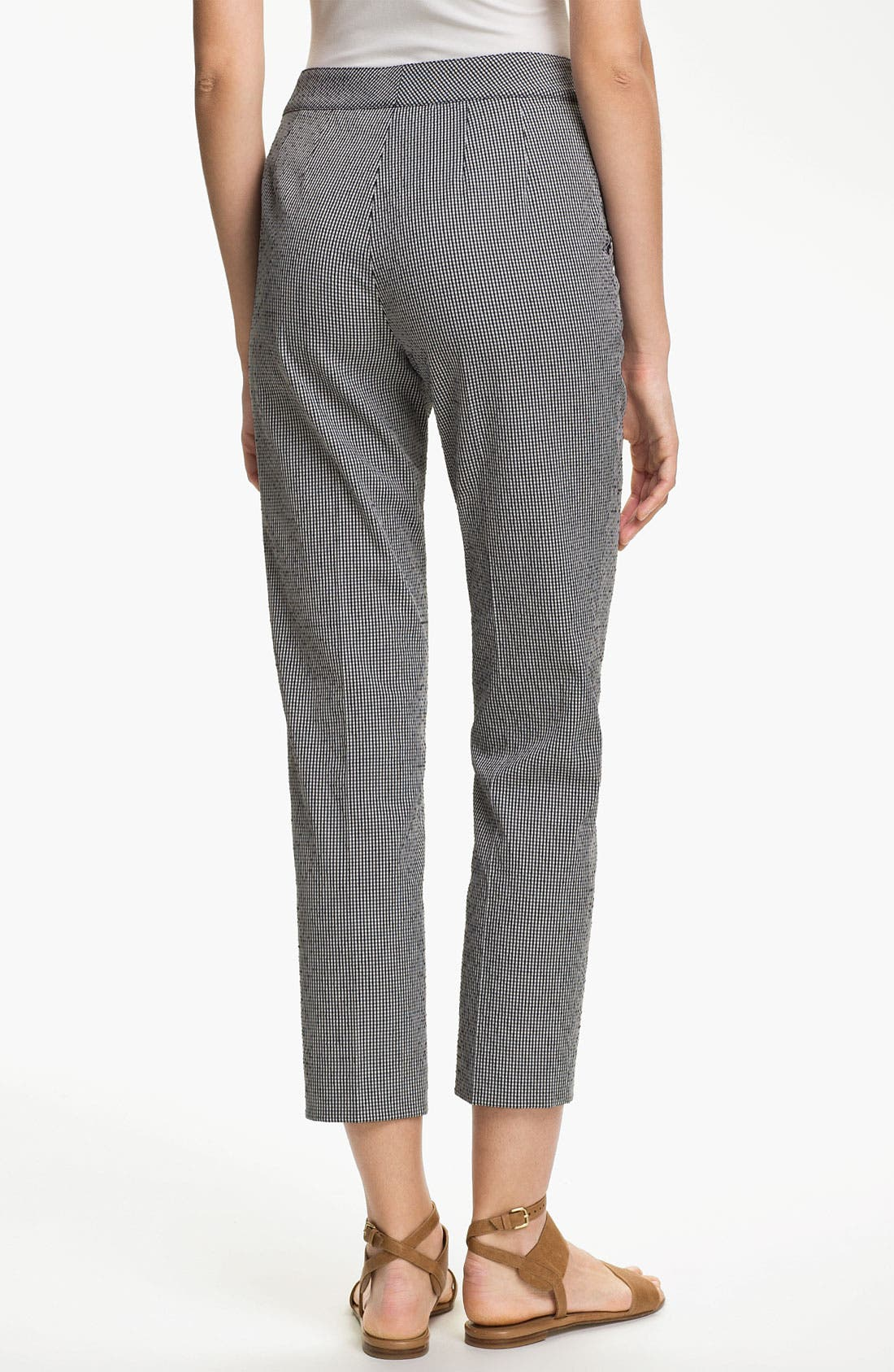 Alternate Image 3  - St. John Yellow Label 'Emma' Vichy Check Crop Pants