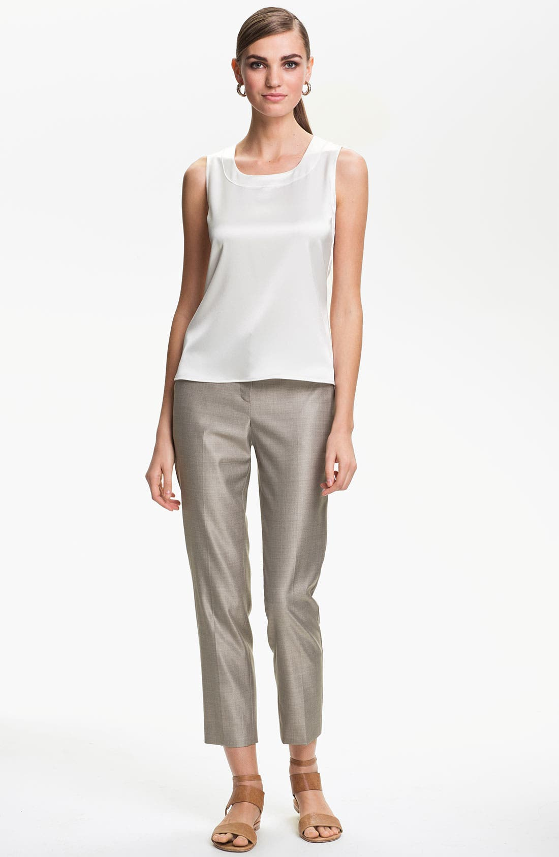 Alternate Image 2  - St. John Collection 'Emma' Mélange Twill Crop Pants