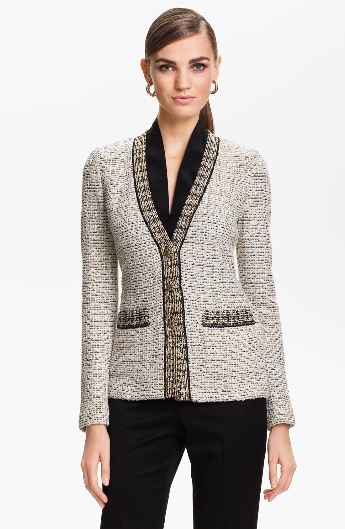 Alternate Image 1 Selected - St. John Collection Venezia Tweed Knit Jacket