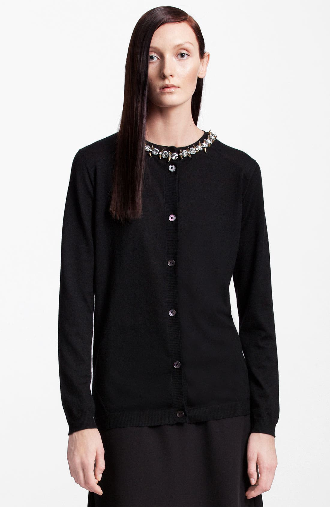 Alternate Image 1 Selected - Marni Jewel Collar Cashmere Cardigan