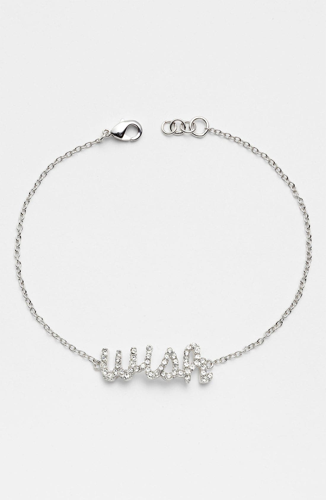 Alternate Image 1 Selected - Ariella Collection 'Messages - Wish' Script Station Bracelet
