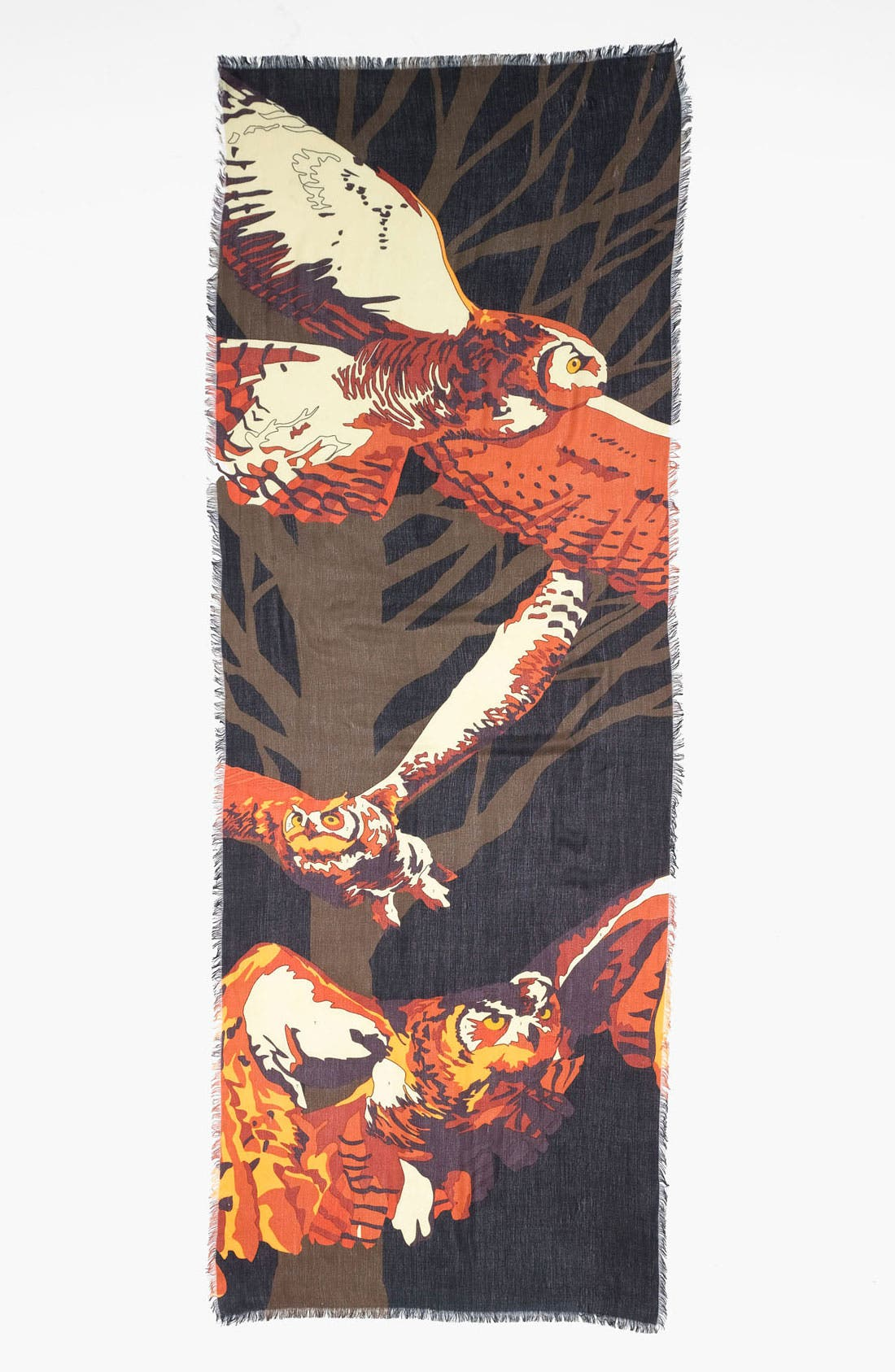 Alternate Image 2  - Trouvé 'Owl By Number' Scarf