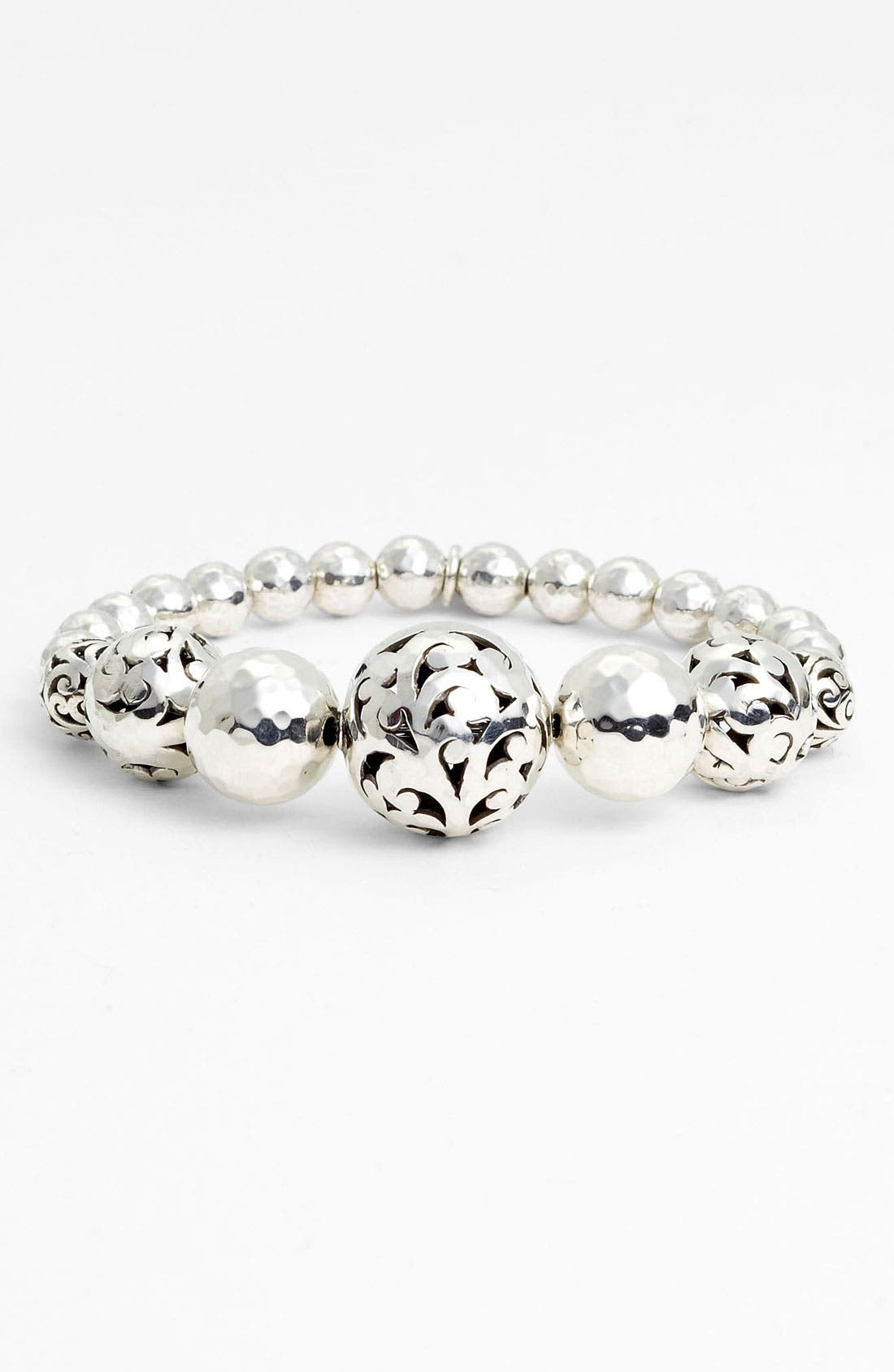 Main Image - Lois Hill 'Ball & Chain' Graduated Bead Stretch Bracelet