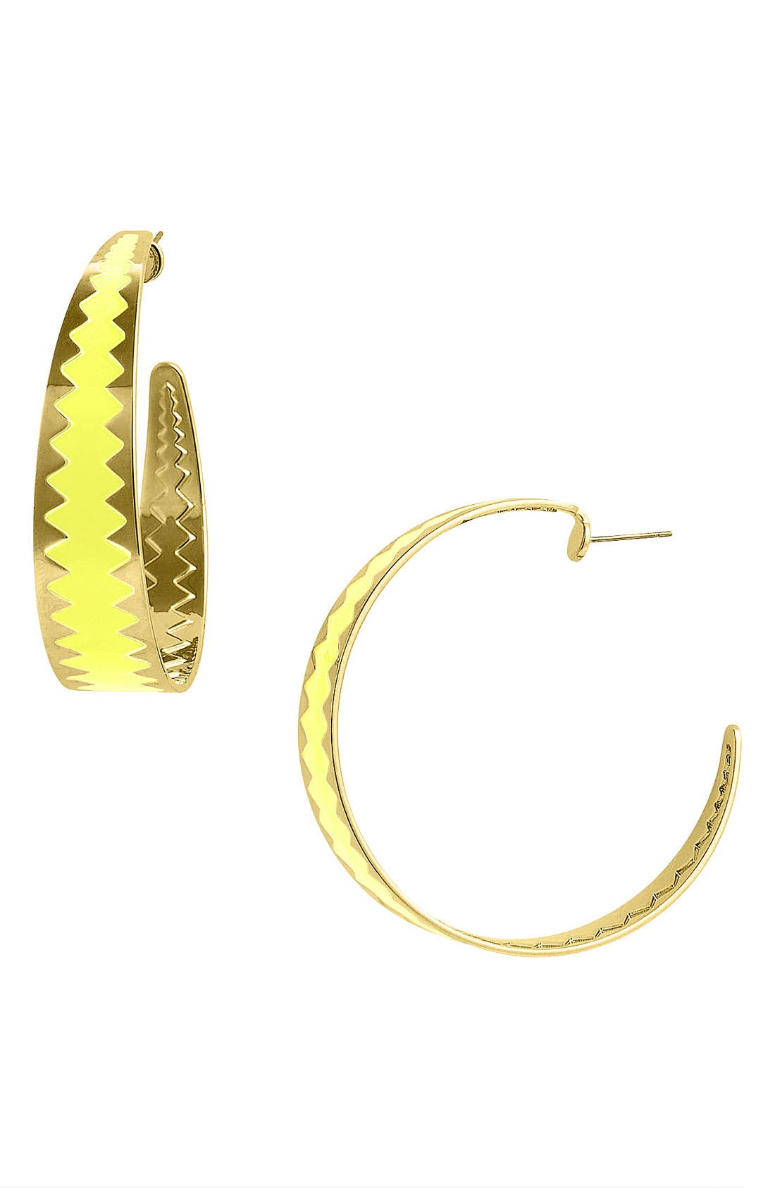 Alternate Image 1 Selected - Adia Kibur Colored Zigzag Hoop Earrings