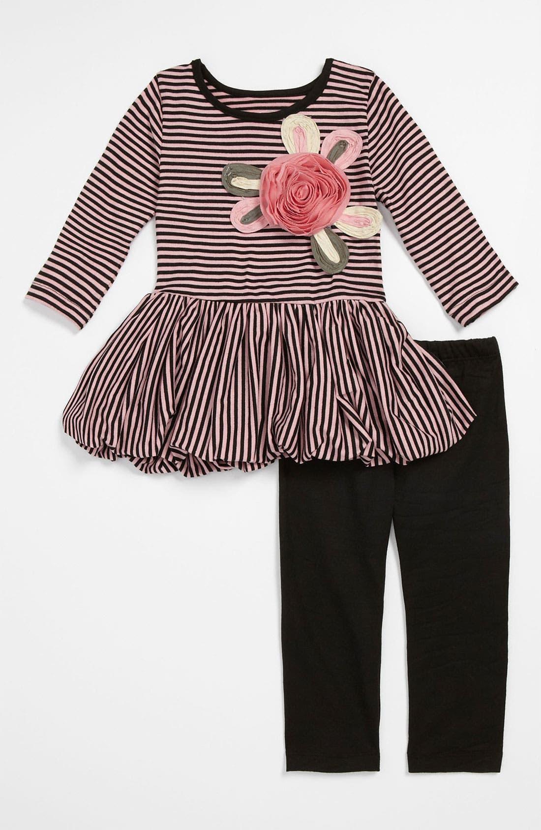Main Image - Pippa & Julie Dress & Leggings (Toddler)