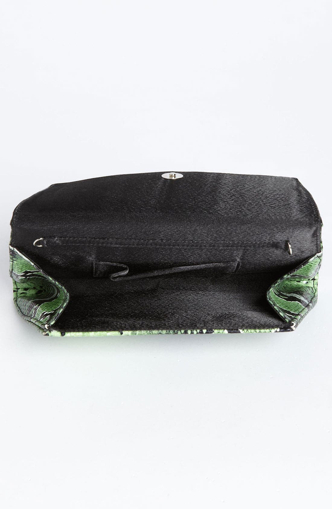 Alternate Image 3  - Natasha Couture Foldover Snake Embossed Clutch