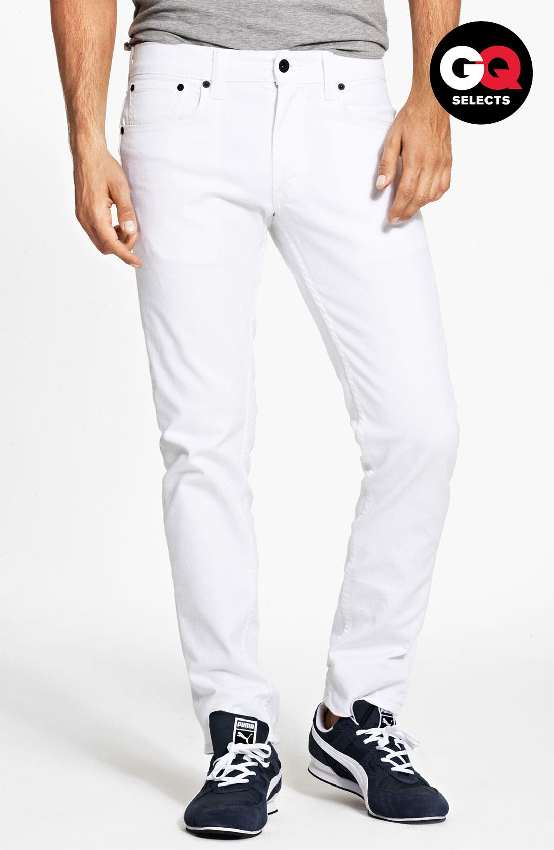 Alternate Image 1 Selected - Levi's® '511™' Skinny Jeans (White)
