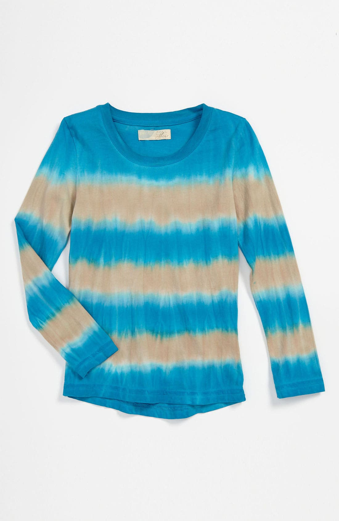 Main Image - Peek Ombré Stripe Tee (Toddler, Little Girls & Big Girls)