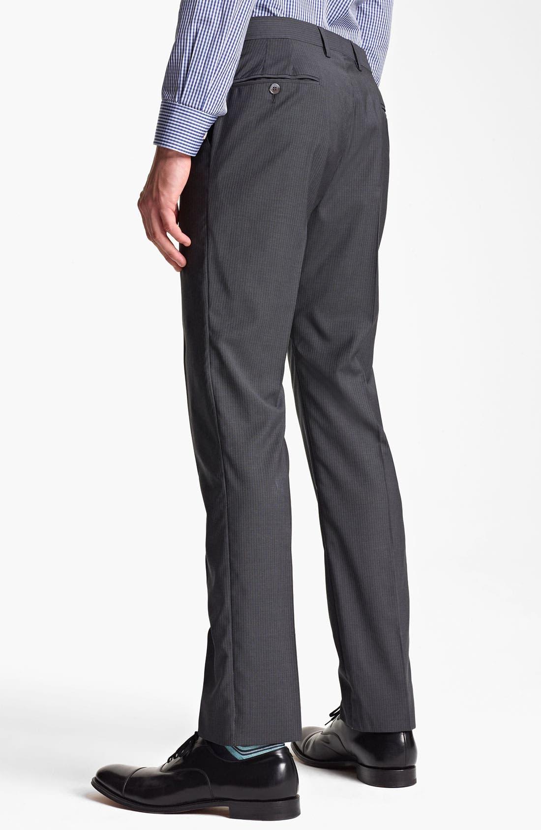 Alternate Image 5  - Paul Smith London Slim Fit Chalk Stripe Wool Suit