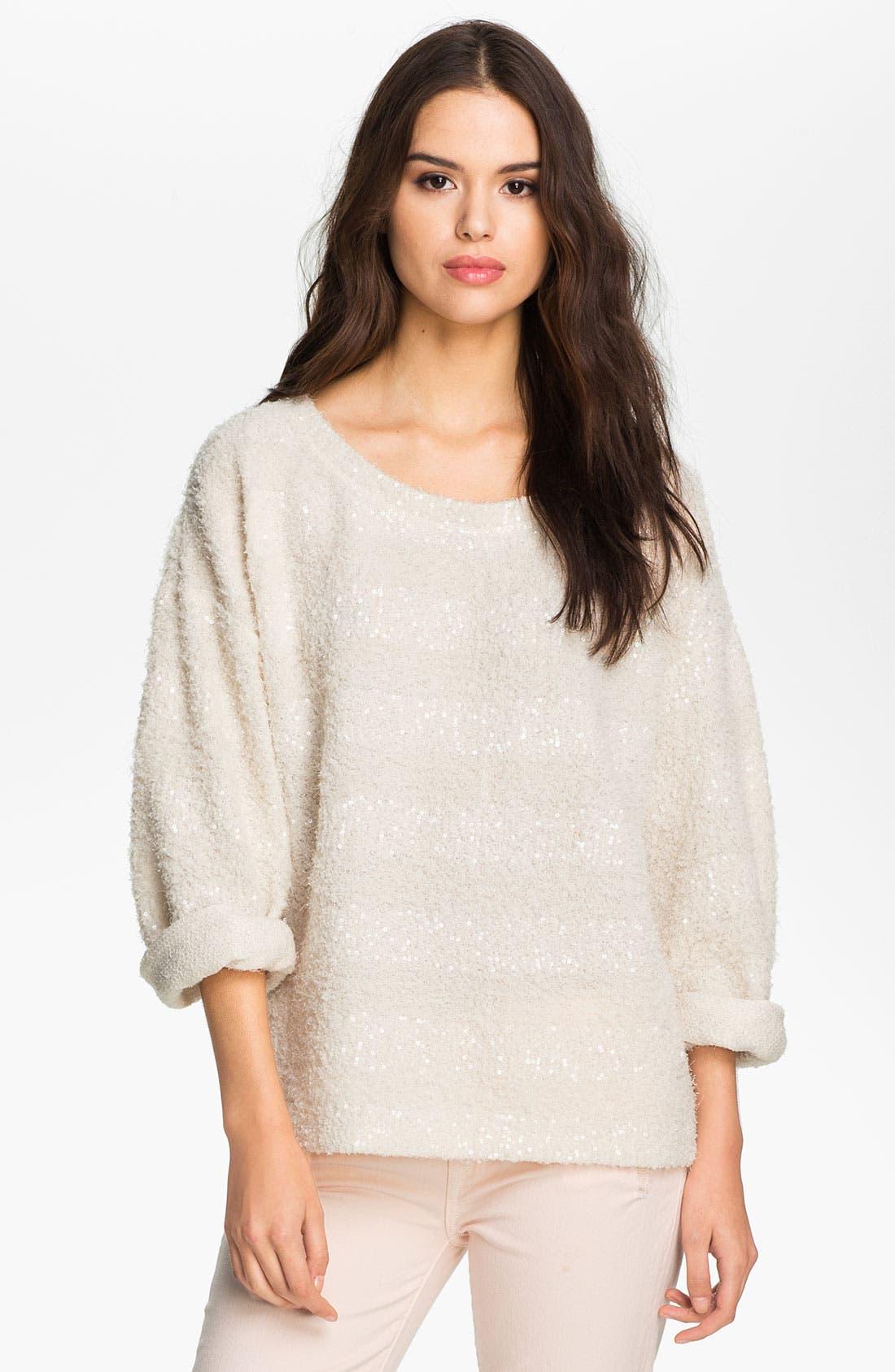 Main Image - Heed Stripe Bouclé Sweater
