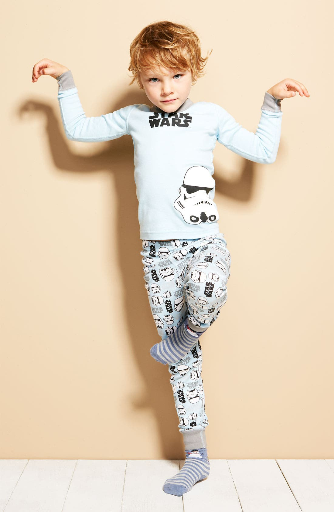 Alternate Image 2  - Hanna Andersson Two Piece Fitted Pajamas (Little Boys & Big Boys)