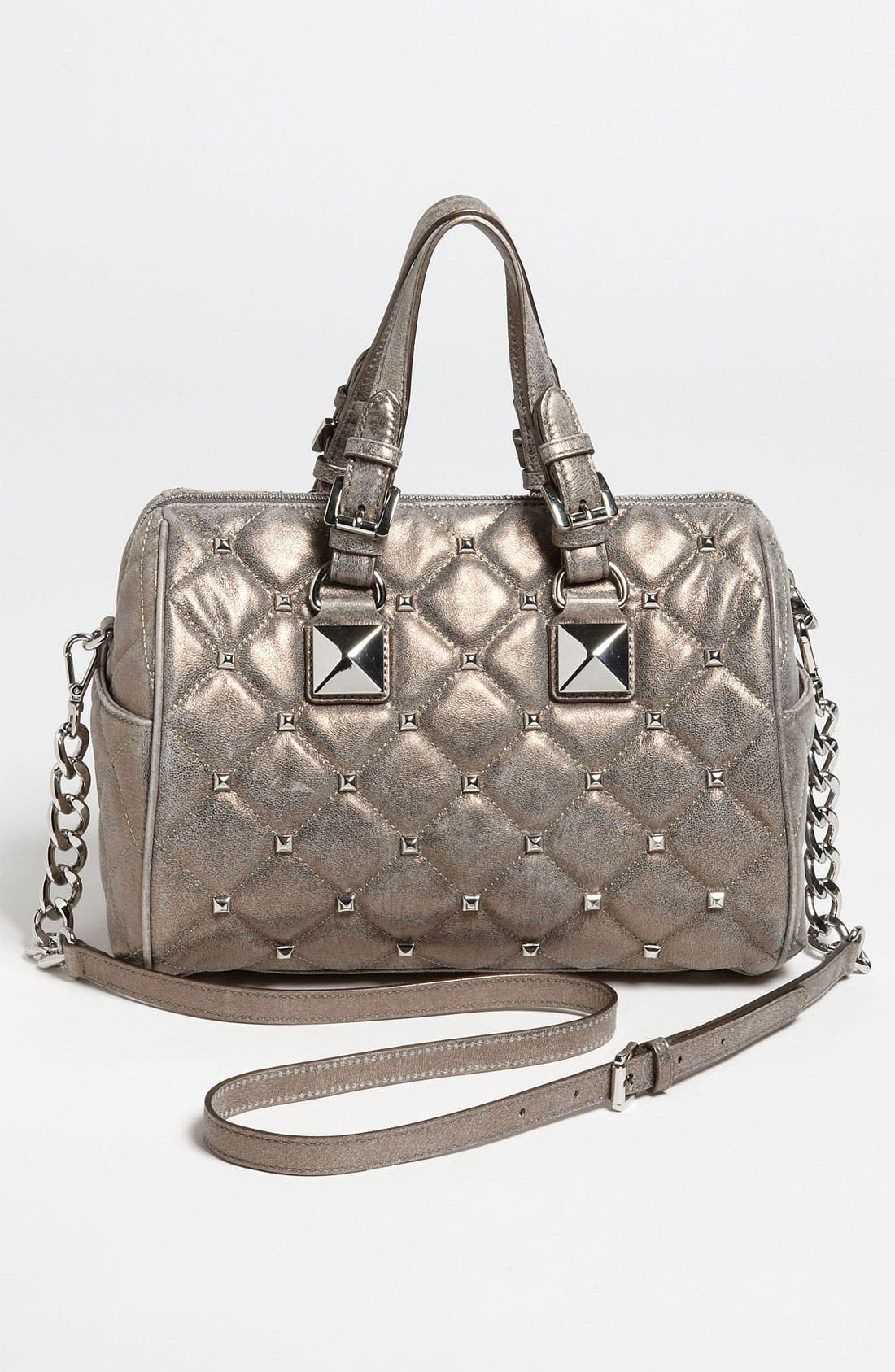 Alternate Image 5  - MICHAEL Michael Kors 'Grayson Quilted Stud - Medium' Satchel