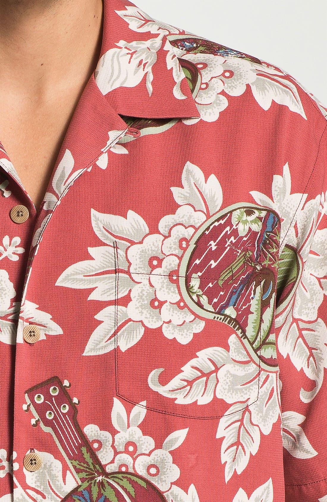 Alternate Image 3  - Tommy Bahama 'Island Jams' Silk Campshirt