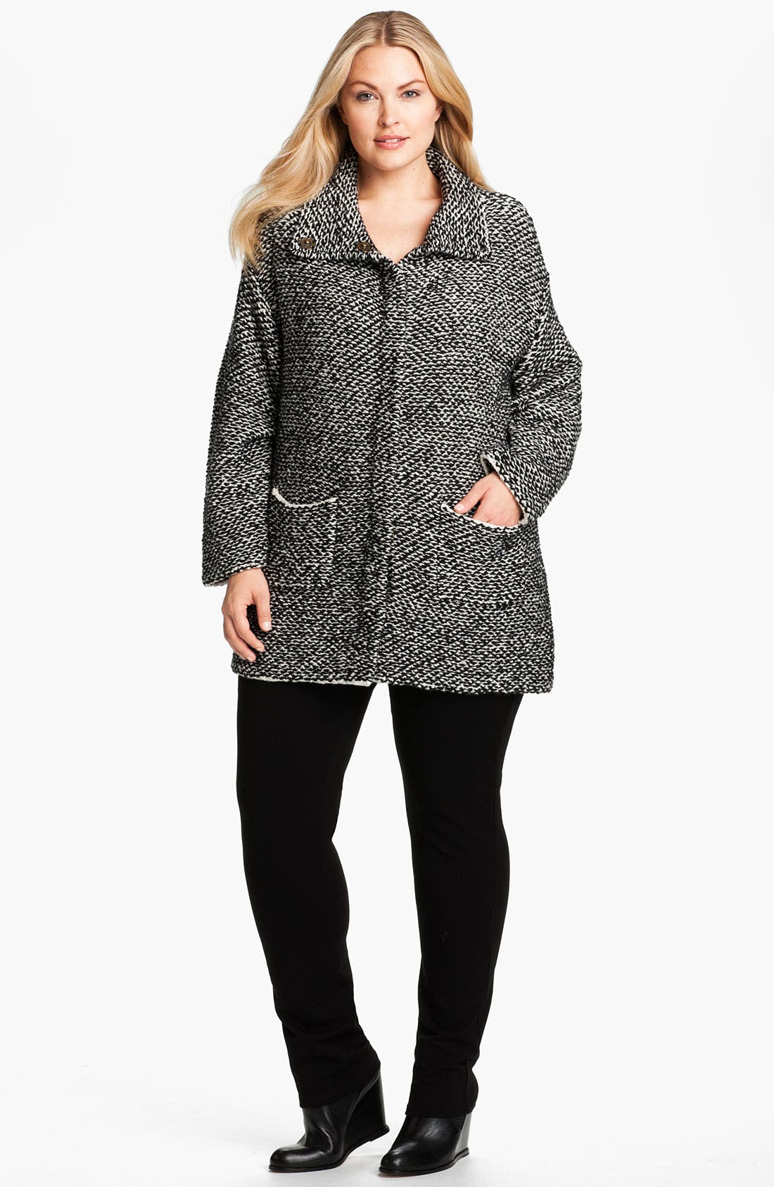 Alternate Image 4  - Eileen Fisher Organic Cotton Jacket (Plus)