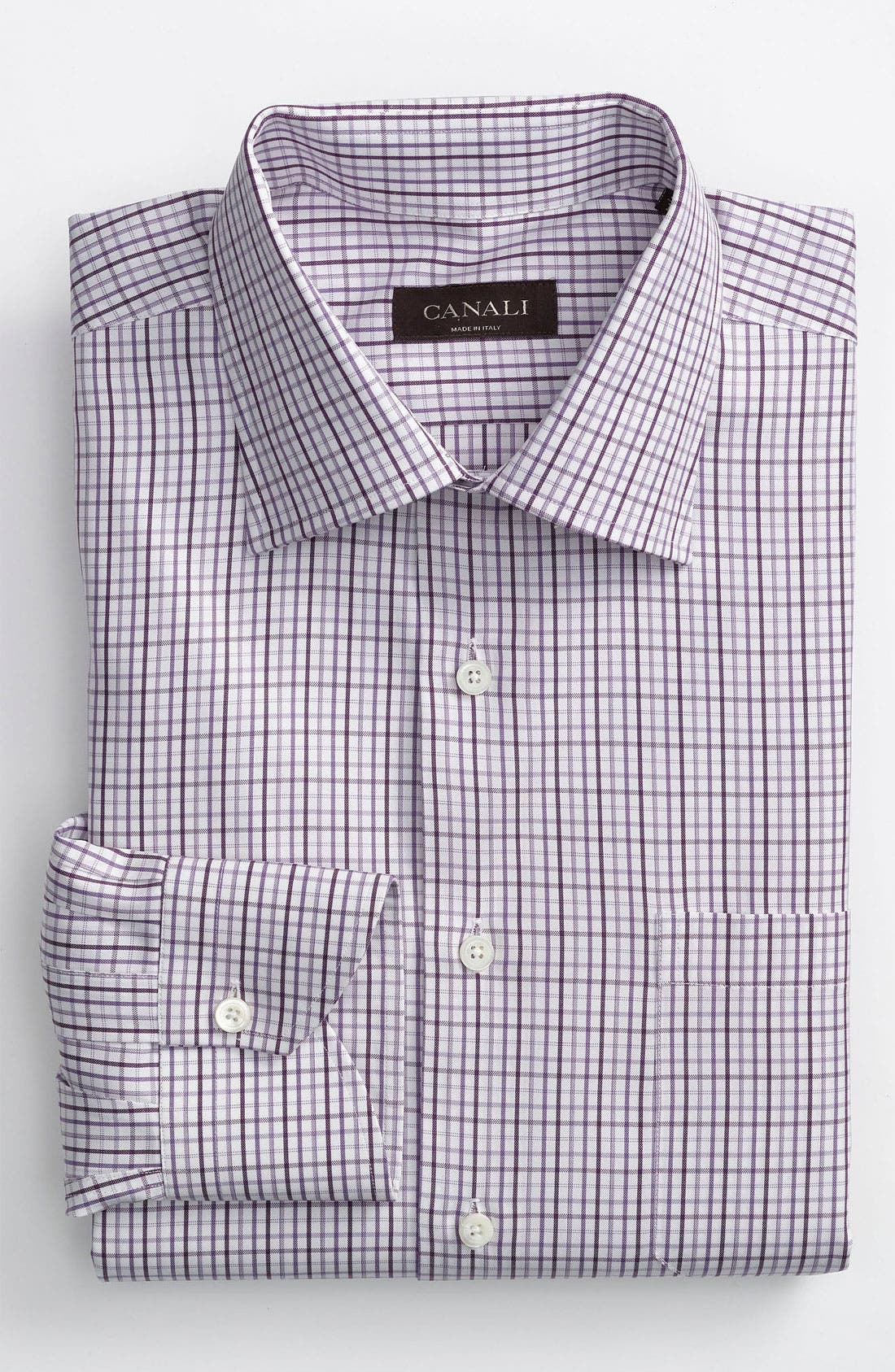 Main Image - Canali Modern Fit Dress Shirt