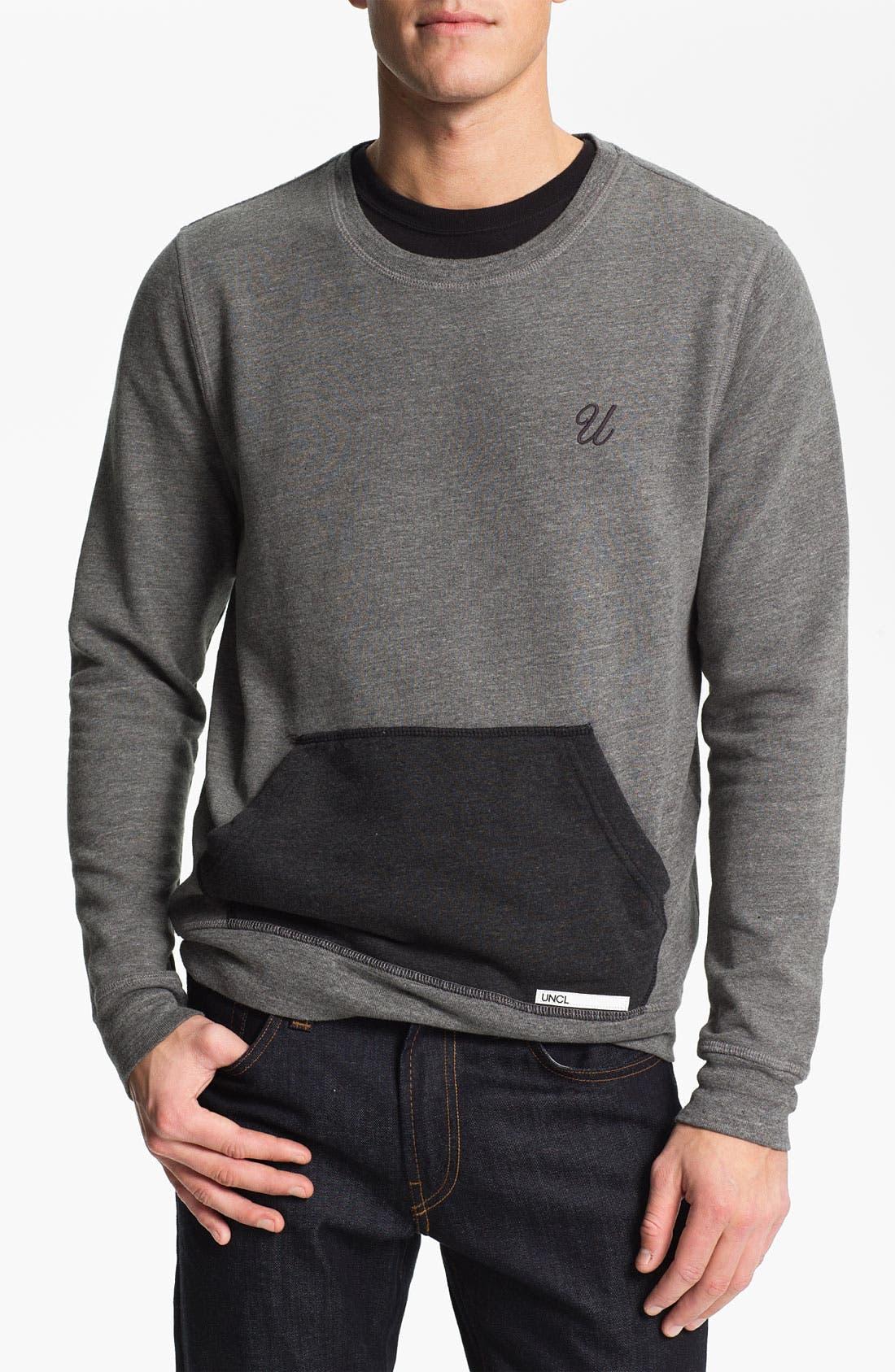 Main Image - UNCL Crewneck Fleece Sweatshirt