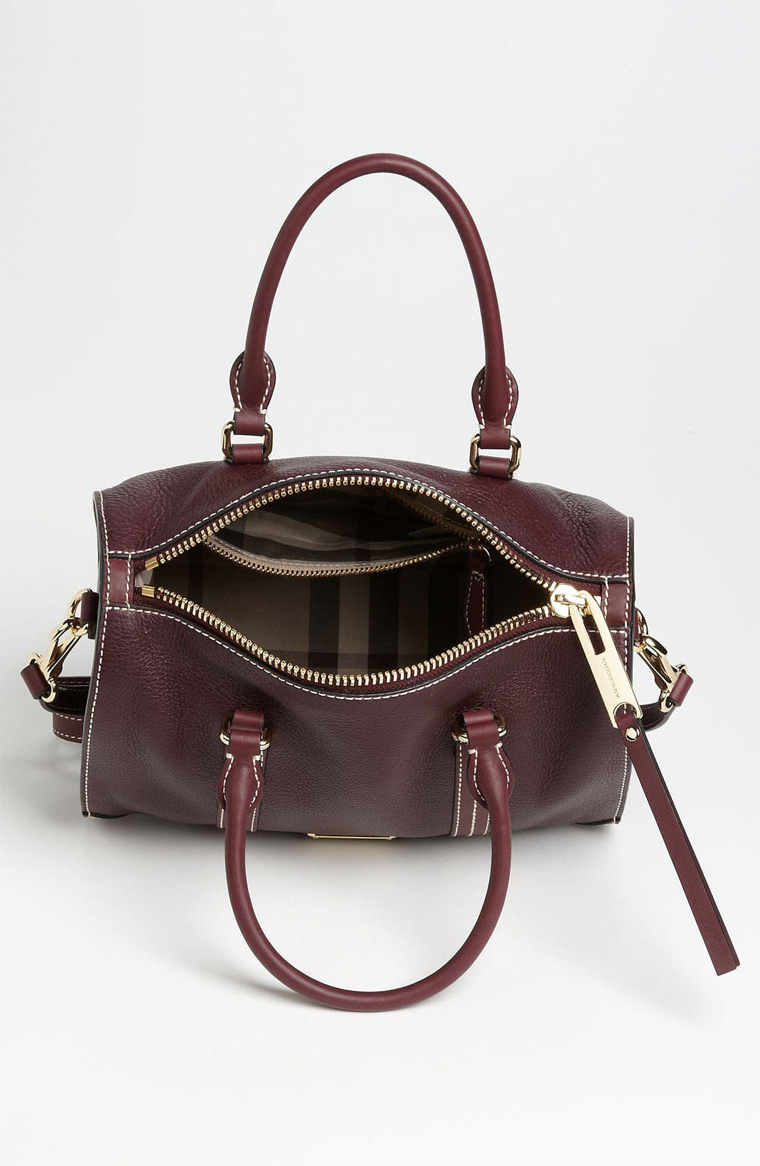 Alternate Image 3  - Burberry 'Alchester -Small' Leather Bowling Bag