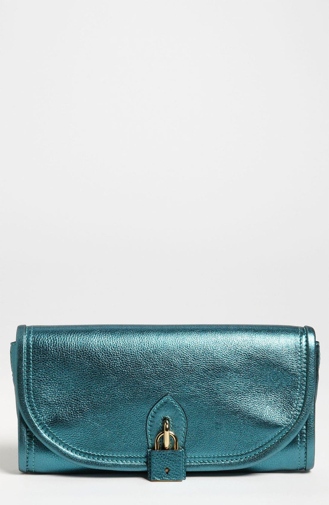 Main Image - Burberry 'Soft Grainy Metallic' Leather Clutch