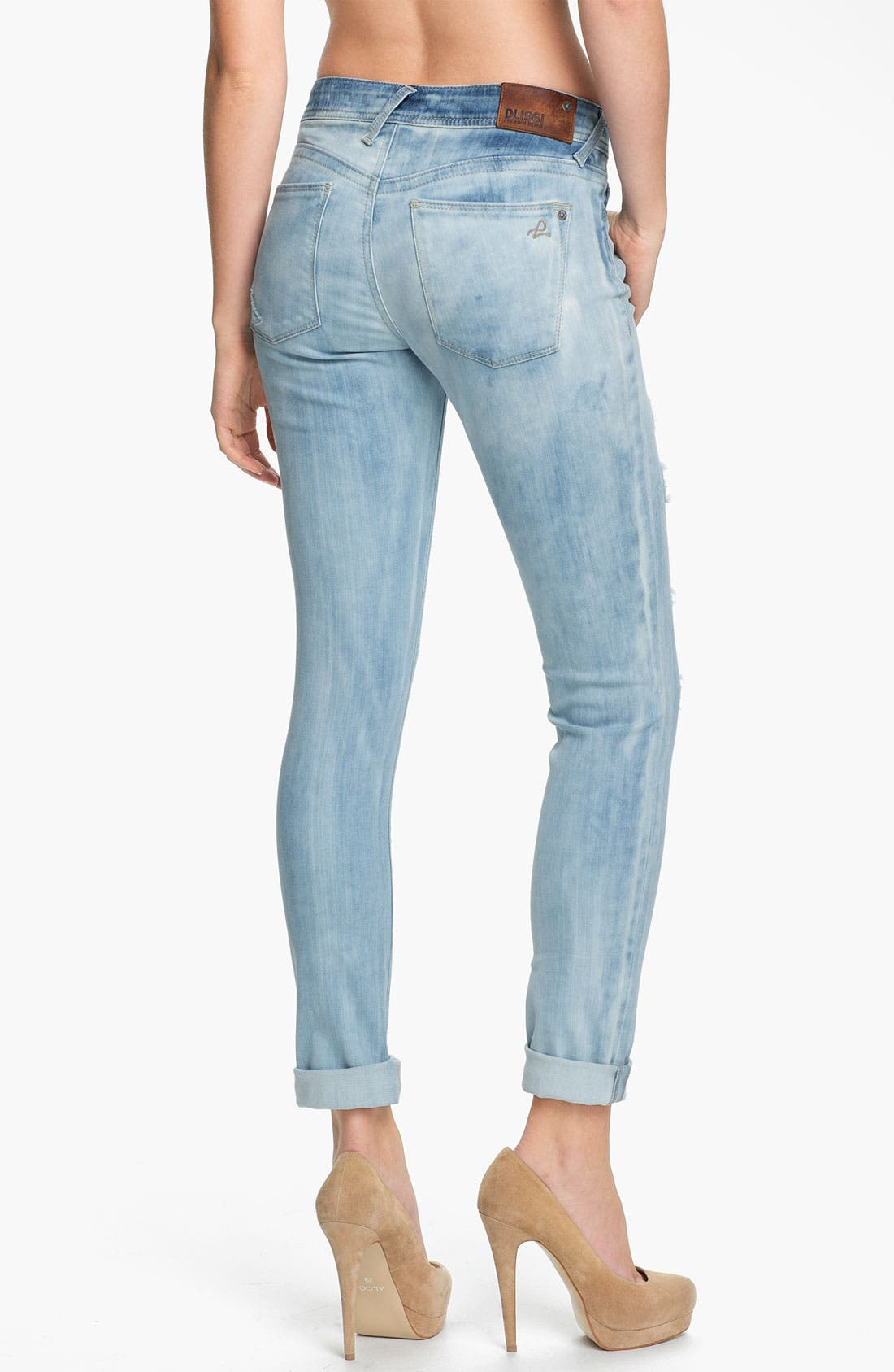Alternate Image 2  - DL1961 'Amanda'  X-Fit Stretch Destroyed Denim Skinny Jeans (Frenzy)