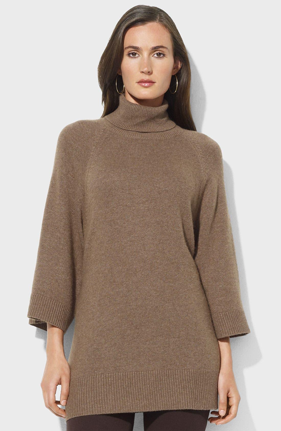 Main Image - Lauren Ralph Lauren Oversized Turtleneck Sweater (Petite)