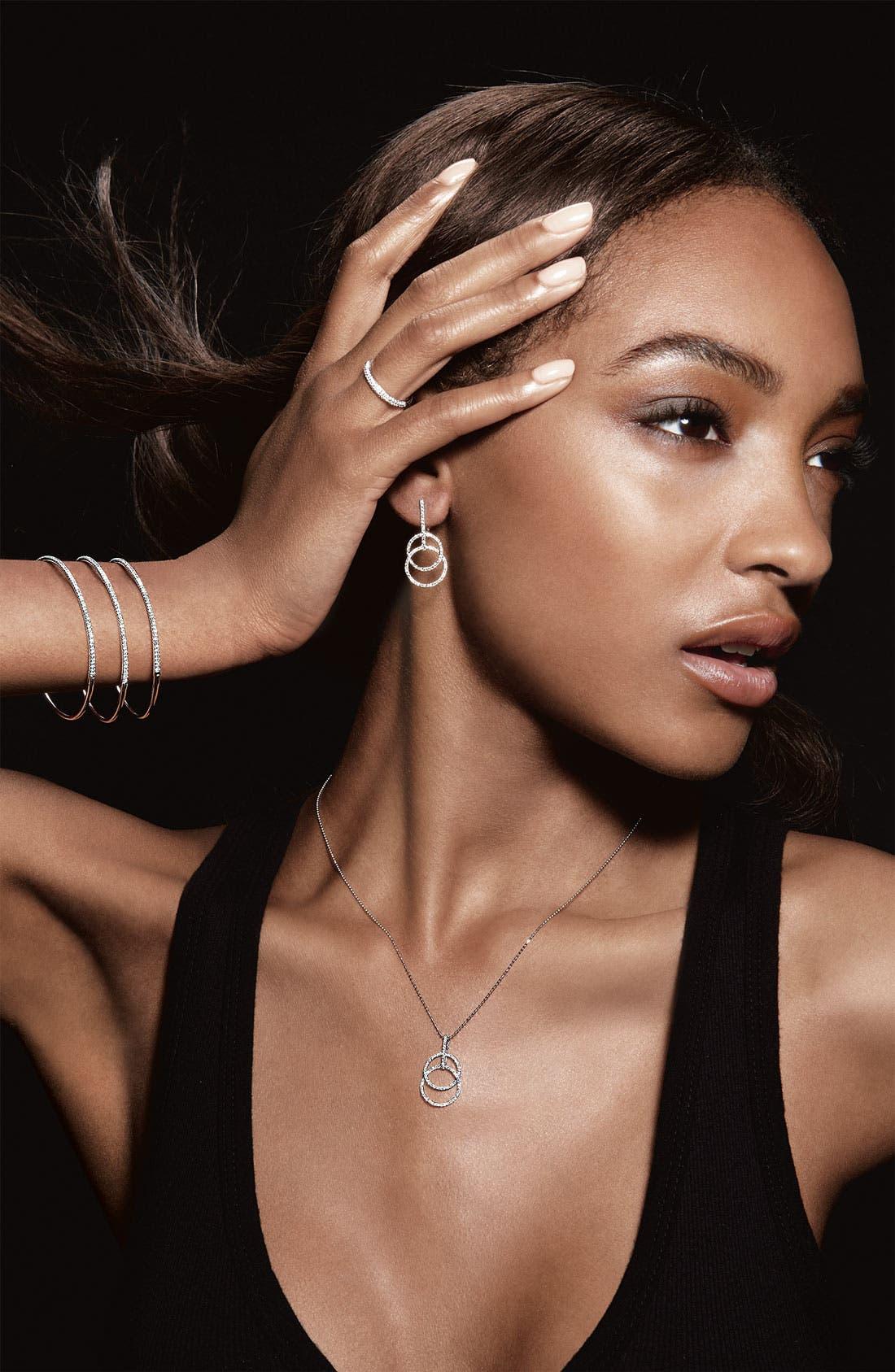 Alternate Image 2  - Bony Levy 'Circle Links' Diamond Pendant Necklace (Nordstrom Exclusive)