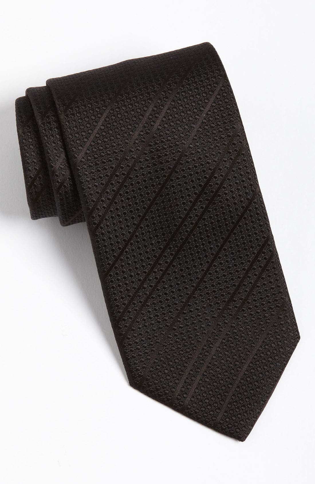 Main Image - Yves Saint Laurent Textured Stripe Silk Woven Tie