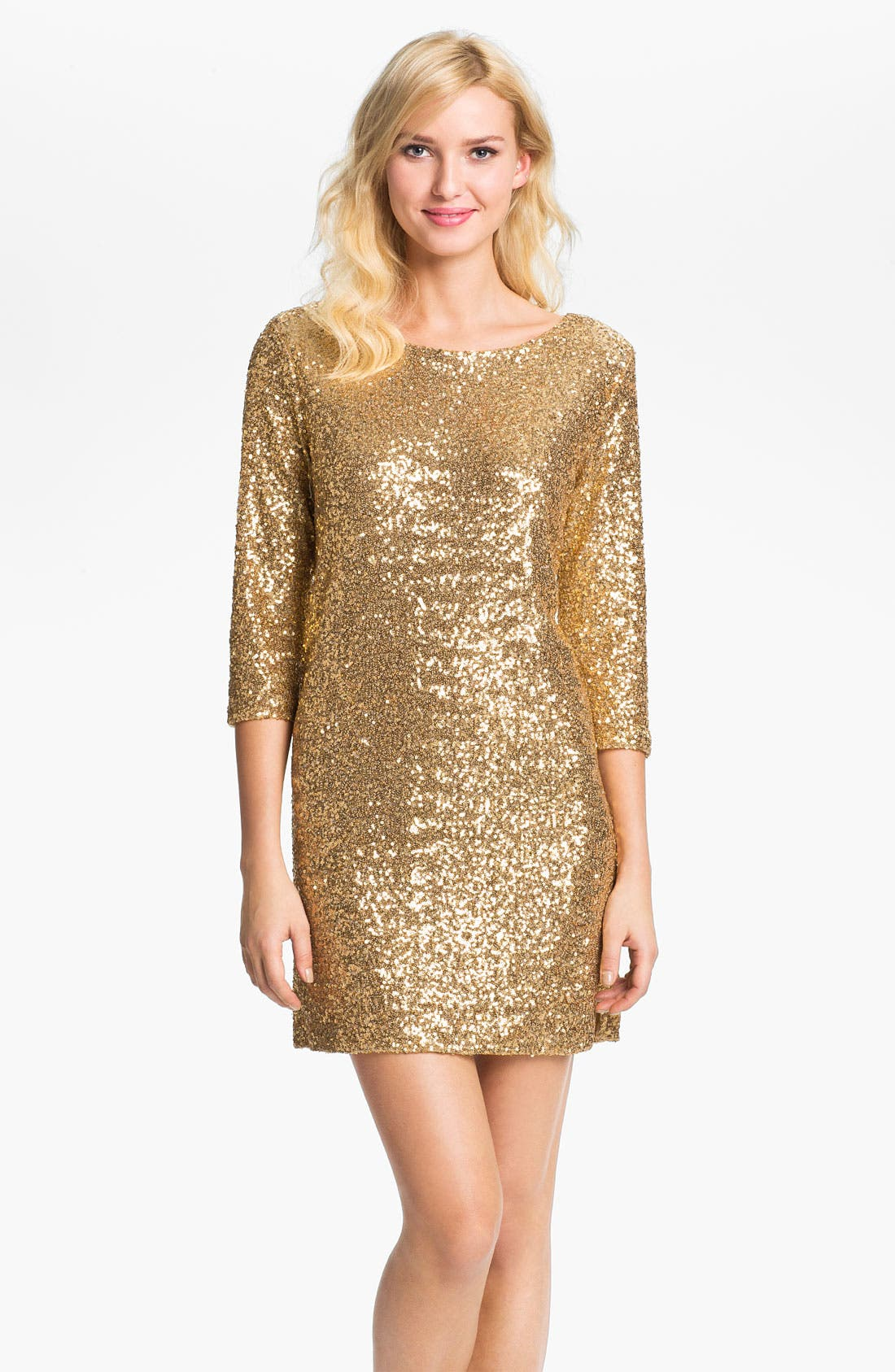 Alternate Image 1 Selected - Anne Klein Sequin Dress (Online Exclusive)
