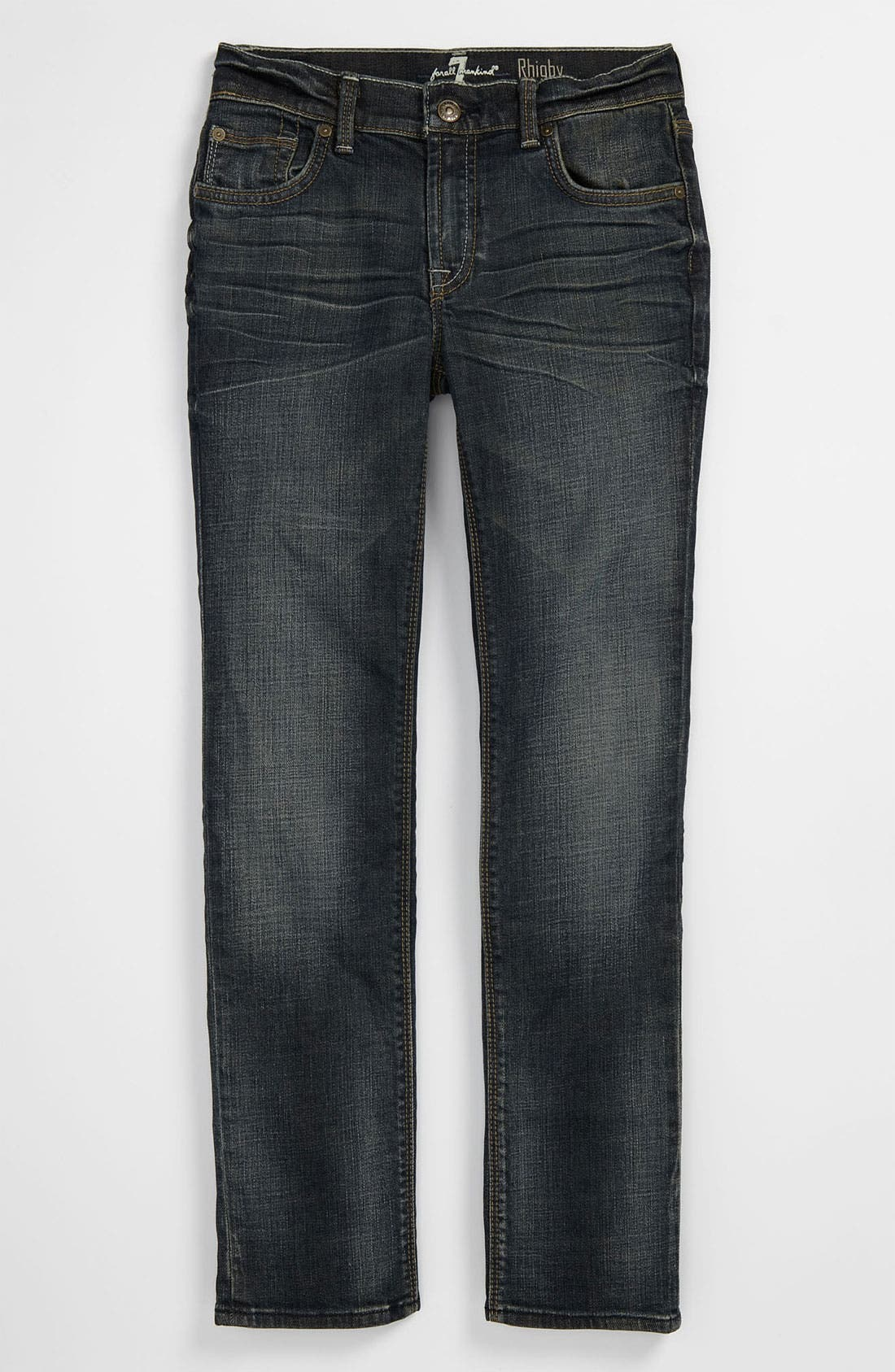 Alternate Image 2  - 7 For All Mankind® 'Rhigby' Skinny Straight Leg Jeans (Big Boys)