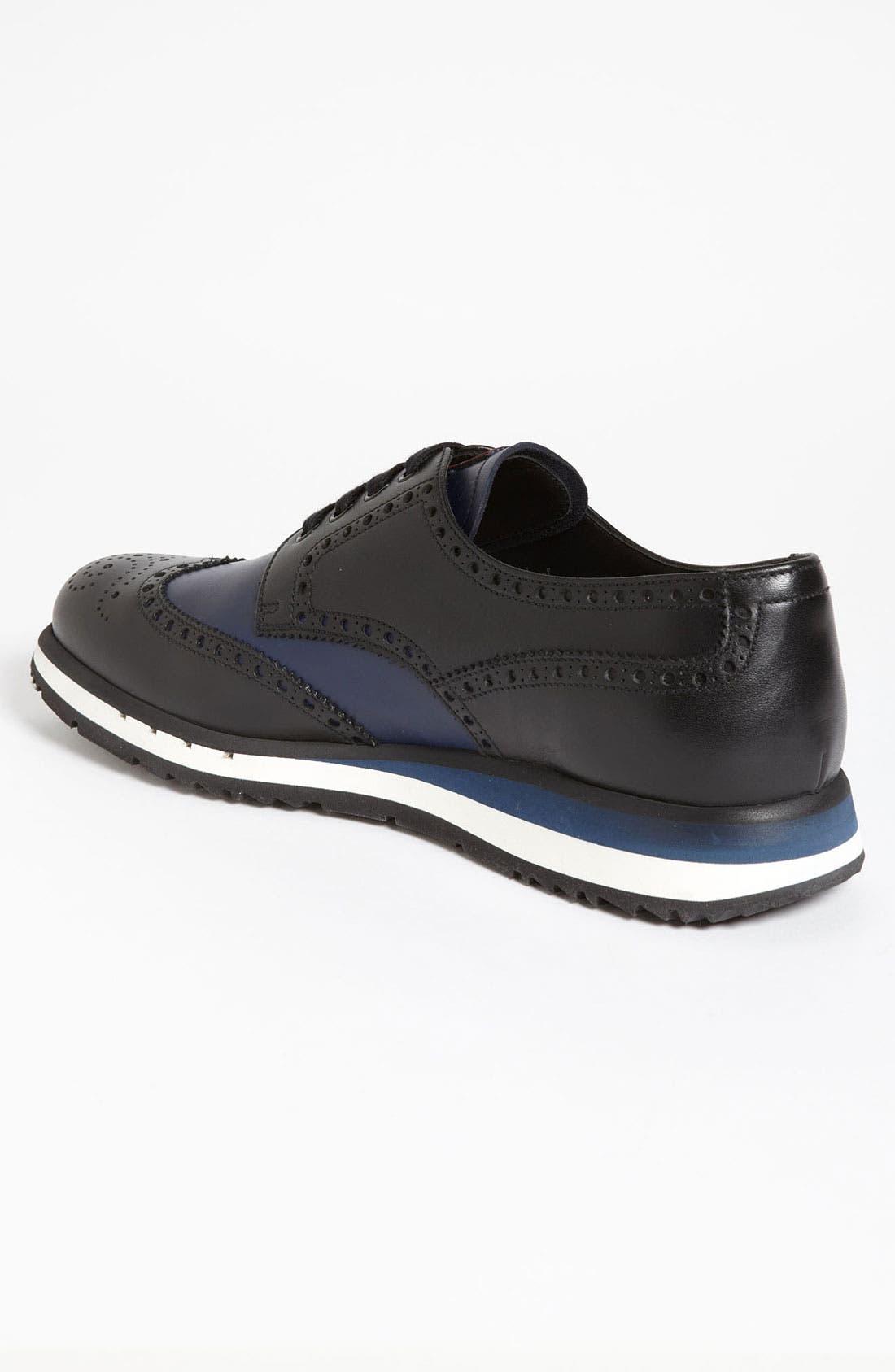 Alternate Image 2  - Prada Two Tone Wingtip Sneaker