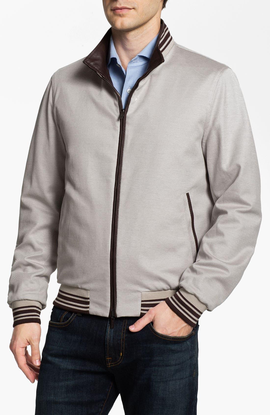 Alternate Image 5  - Canali Reversible Leather Jacket