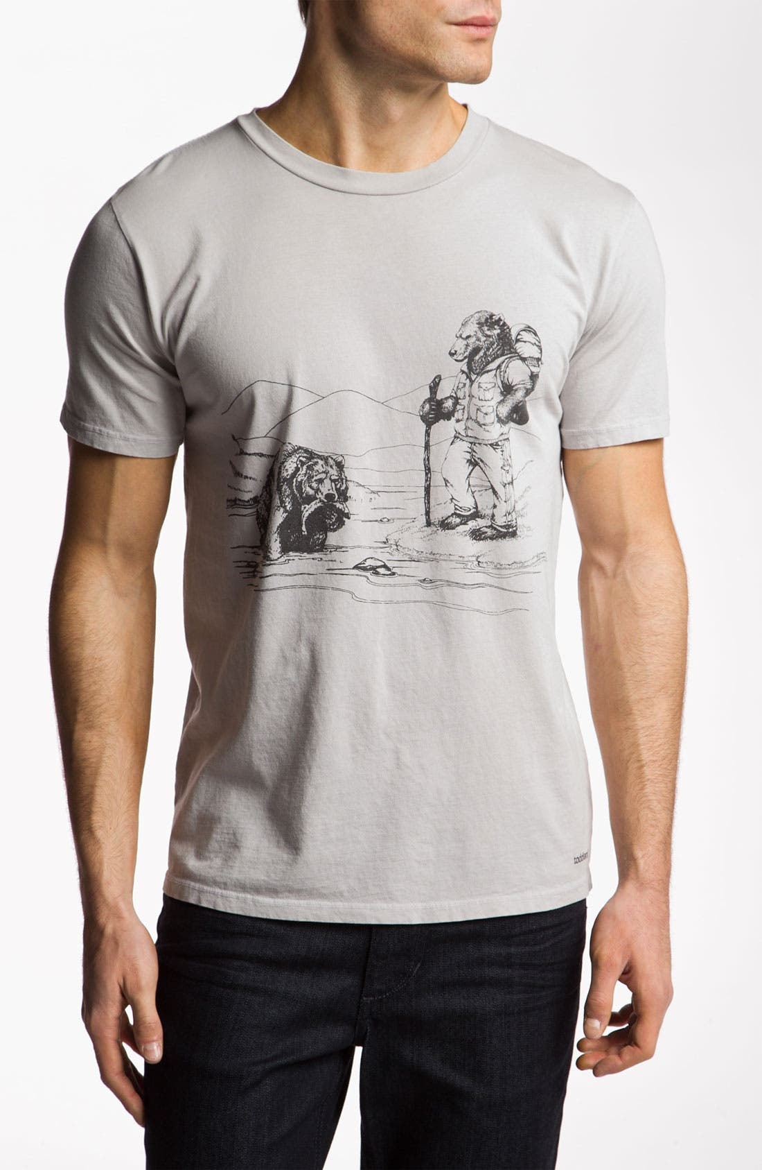 Alternate Image 1 Selected - Toddland 'Disapproving Bear' T-Shirt