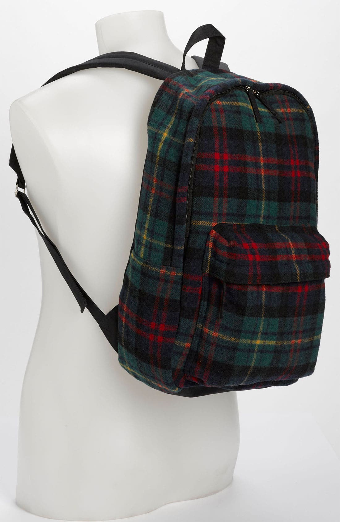 Alternate Image 4  - Topman Scottish Plaid Flannel Backpack