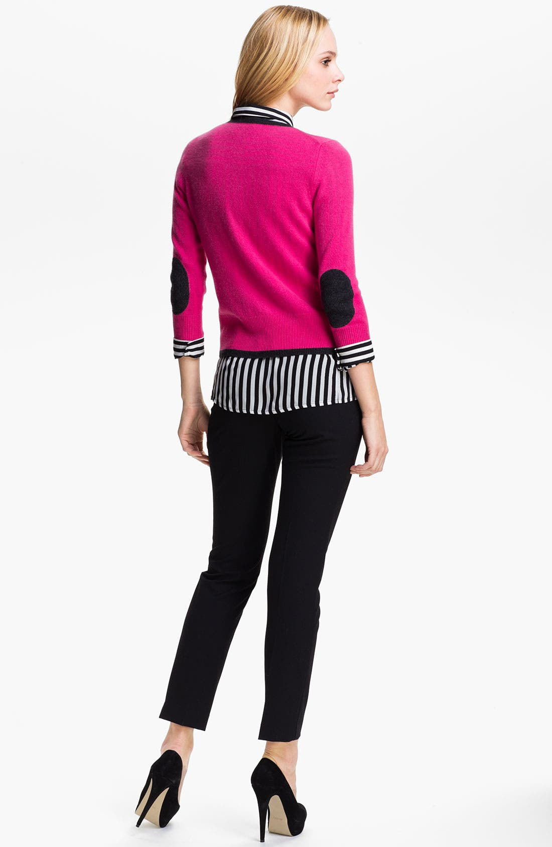 Alternate Image 3  - Only Mine Elbow Patch Cashmere Cardigan (Petite)