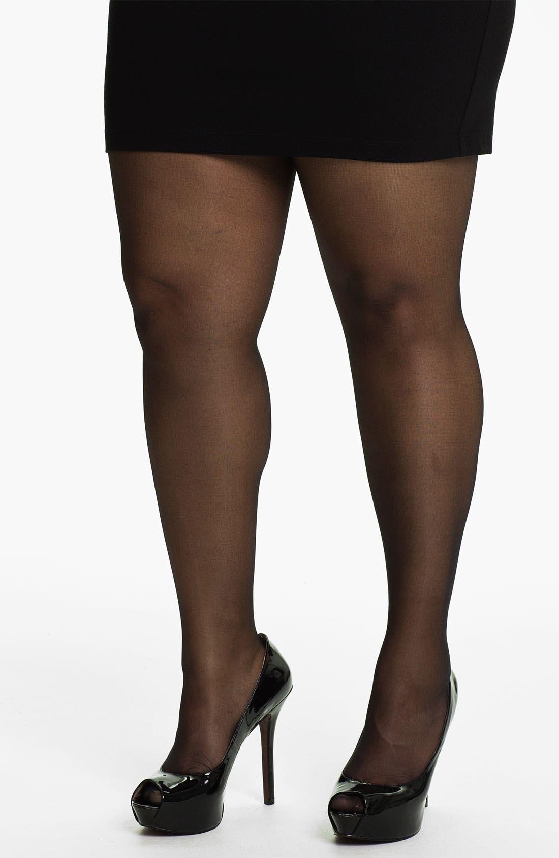 Main Image - Pretty Polly 'Curves' 10 Denier Tights (Plus Size)