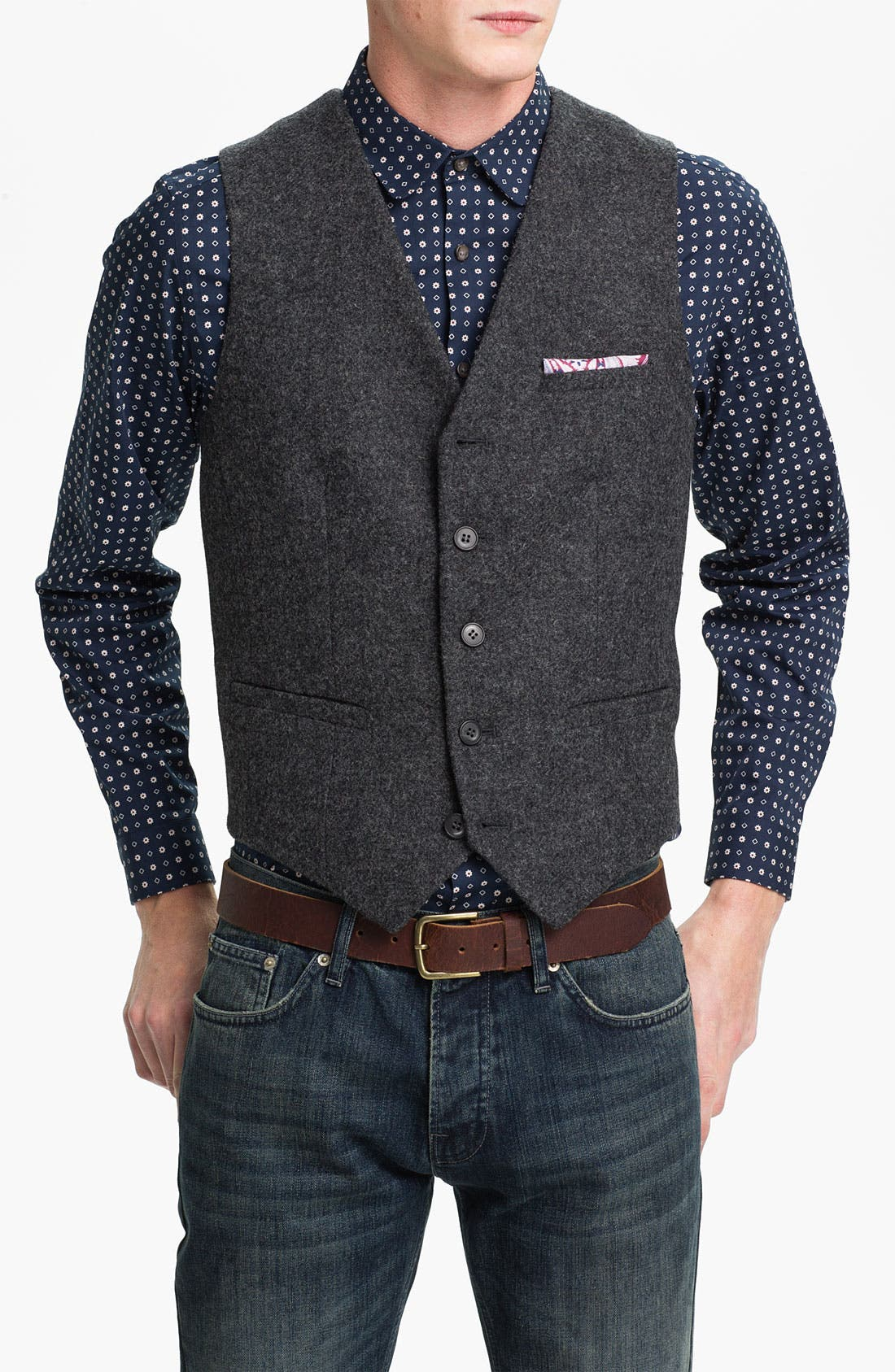 Alternate Image 1 Selected - Topman Wool Waistcoat