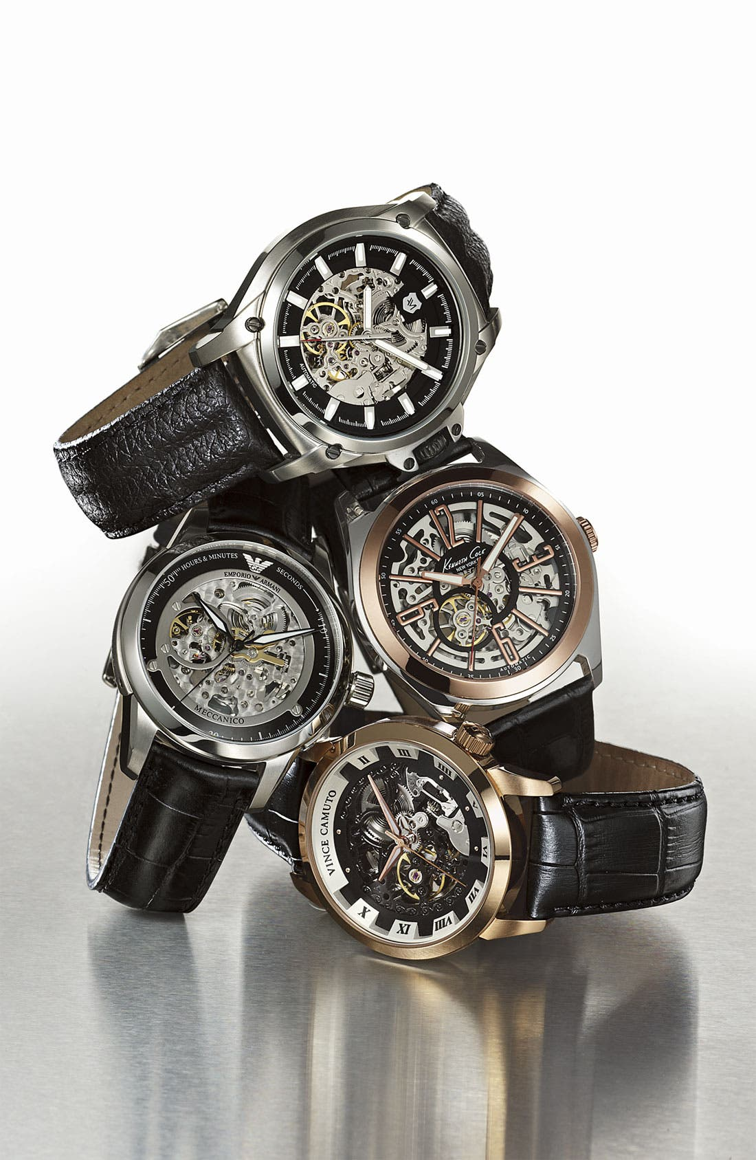 Alternate Image 2  - Andrew Marc Watches 'G-III Pro' Automatic Leather Strap Watch