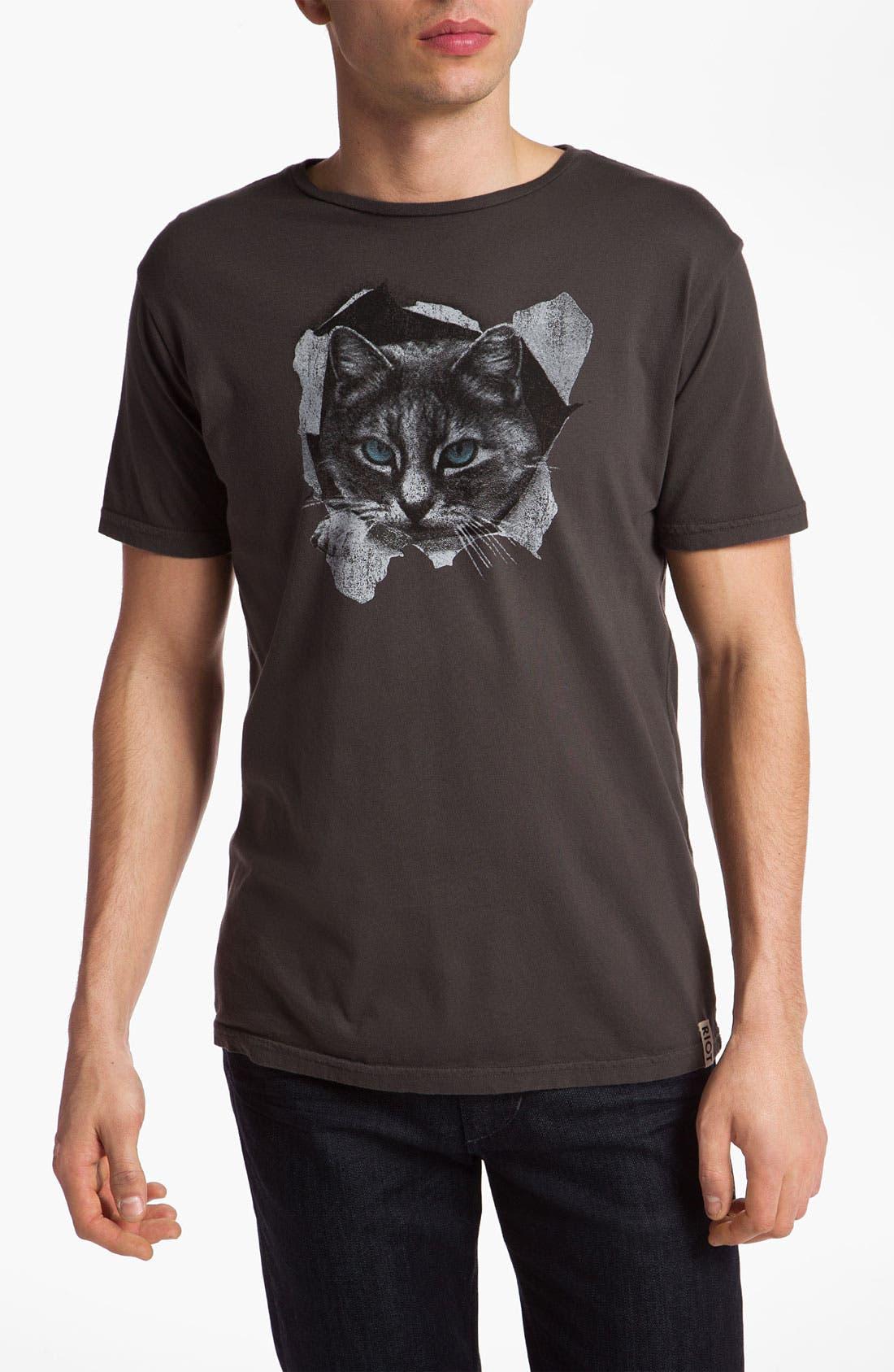 Alternate Image 1 Selected - Sub_Urban Riot 'Peekaboo Cat' Graphic T-Shirt