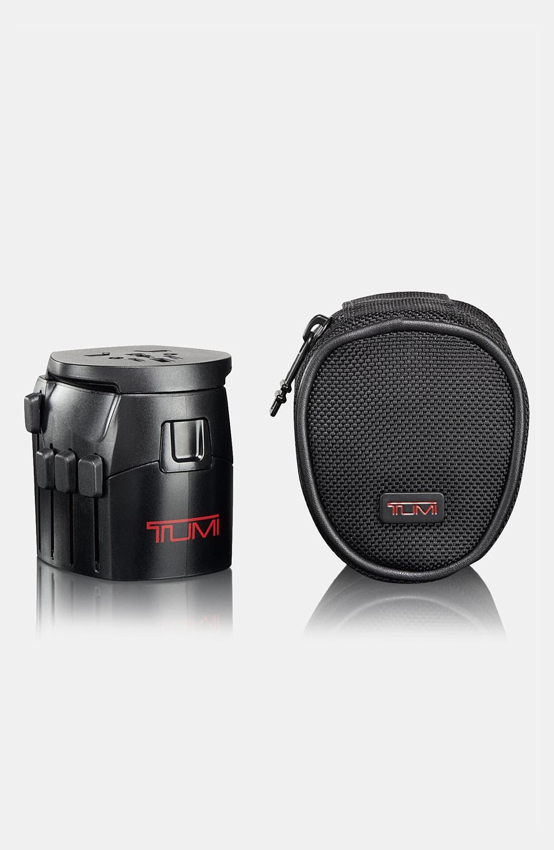 Main Image - Tumi Grounded Electric Travel Adaptor with Ballistic Nylon Case