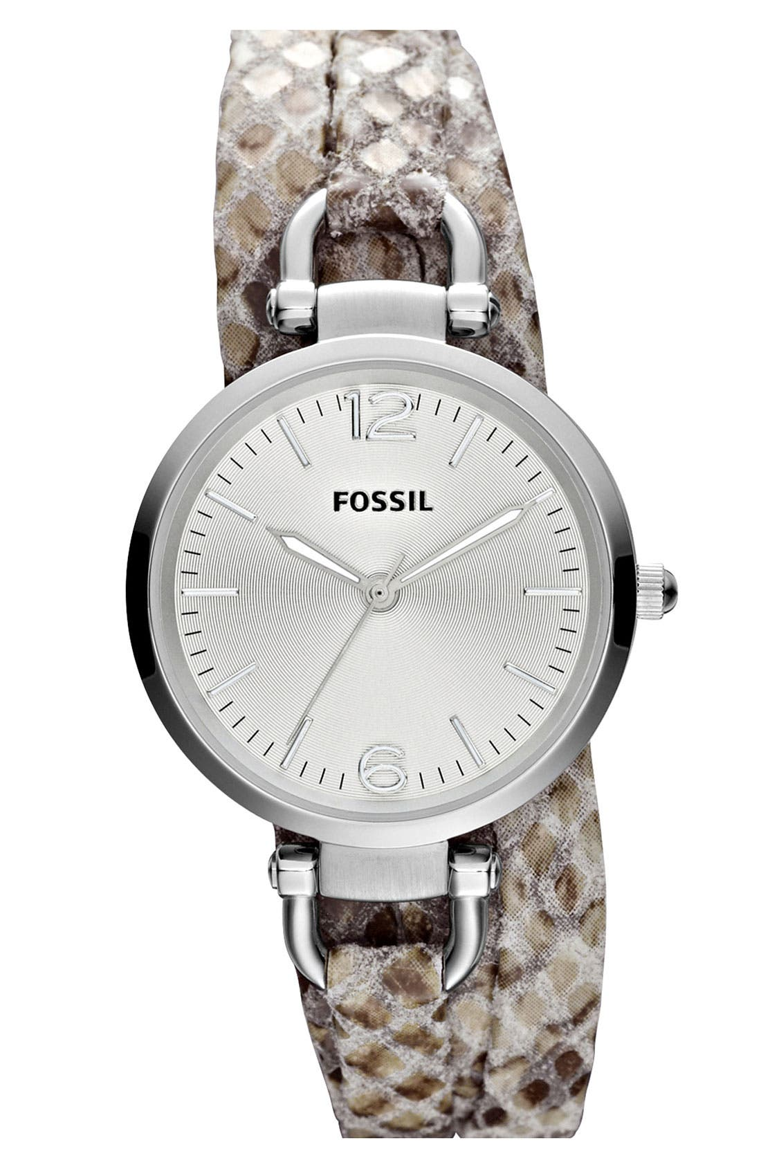 Main Image - Fossil 'Georgia' Faux Wrap Watch, 32mm