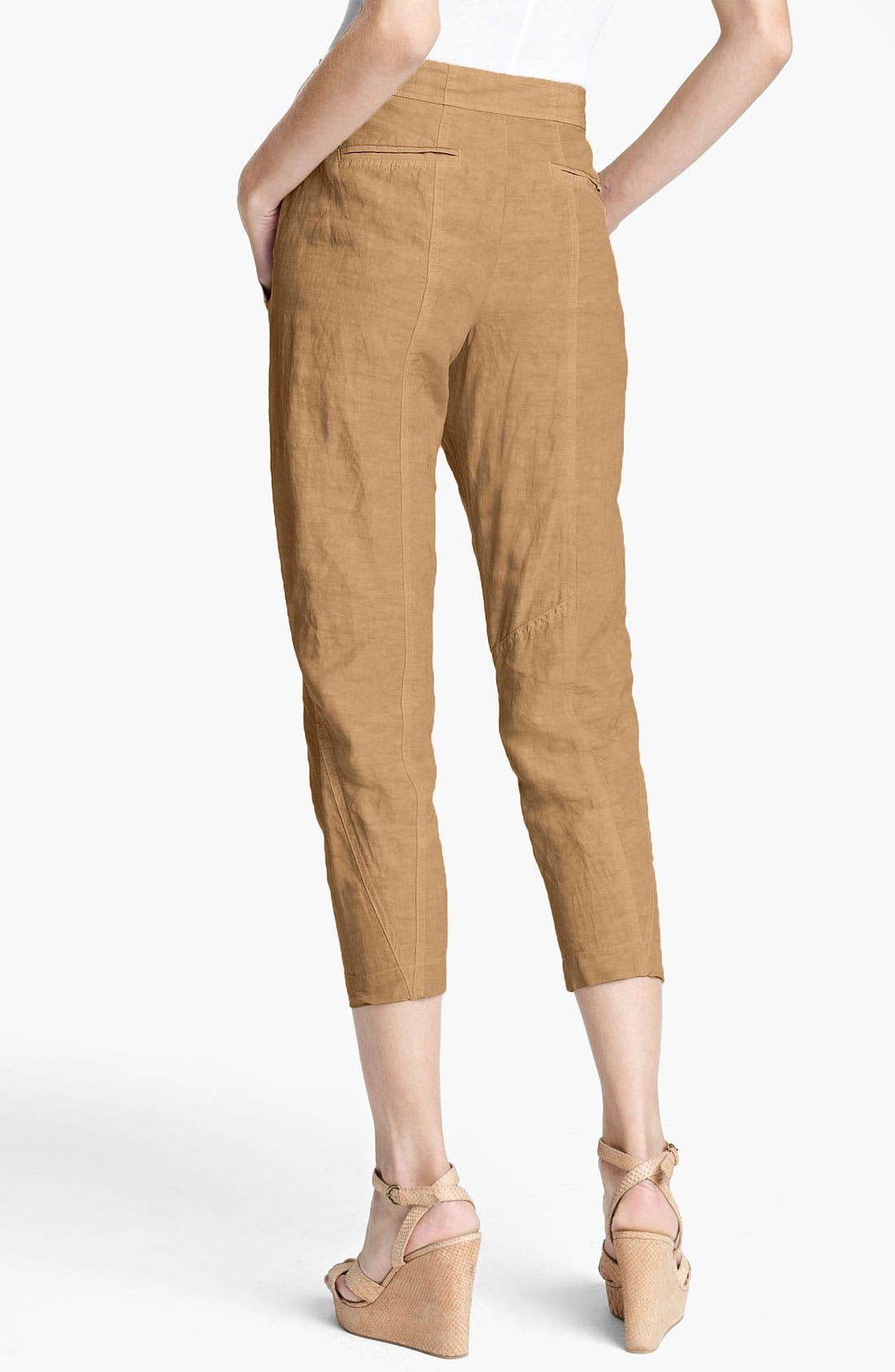 Alternate Image 2  - Donna Karan Collection Pintucked Crop Pants