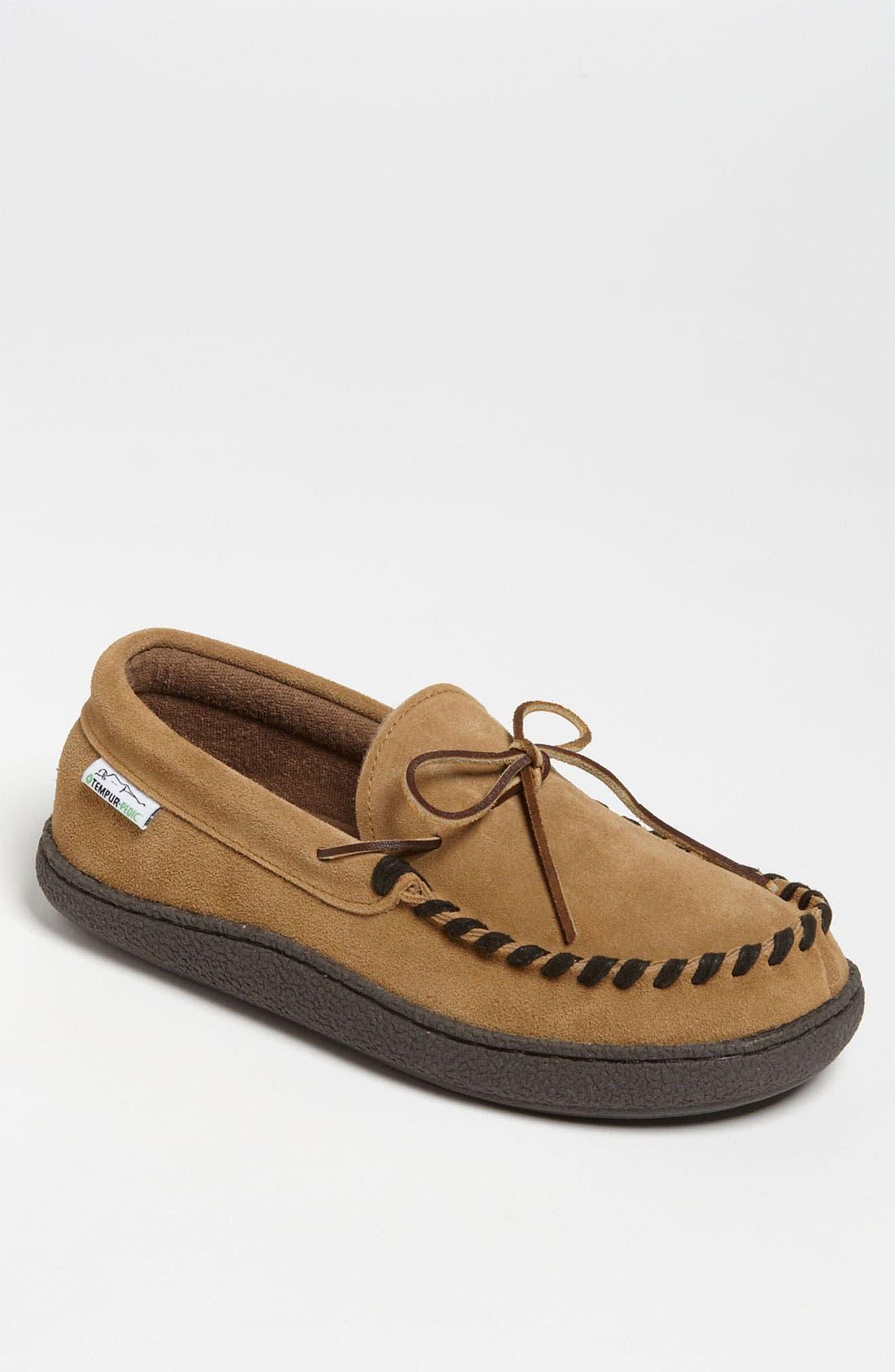 Alternate Image 1 Selected - Tempur-Pedic® Suede Moccasin Slipper
