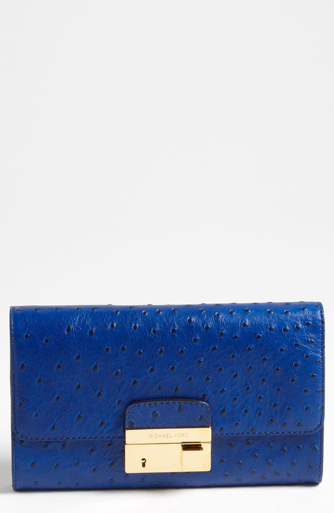 Alternate Image 1 Selected - Michael Kors 'Gia' Ostrich Embossed Clutch