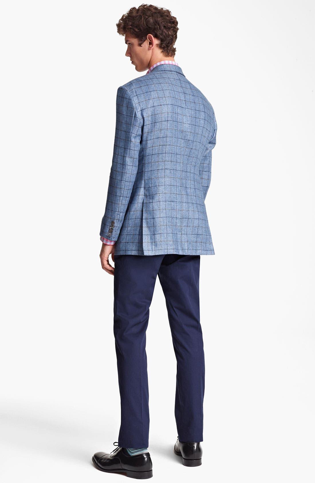 Alternate Image 5  - Paul Smith London Linen Cotton Plaid Sportcoat